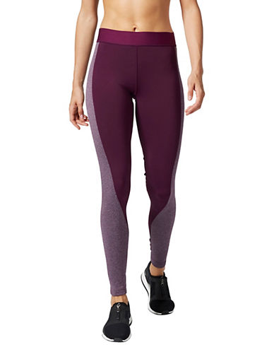 Adidas Elasticized Contrast Panel Leggings-PURPLE-Medium
