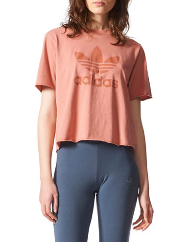 Adidas Cotton Trefoil T-Shirt-PINK-X-Small