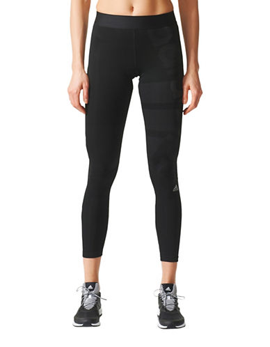 Adidas Techfit Leggings-BLACK-Large