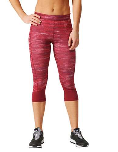 Adidas Macrohth Crop Leggings-RED-X-Large