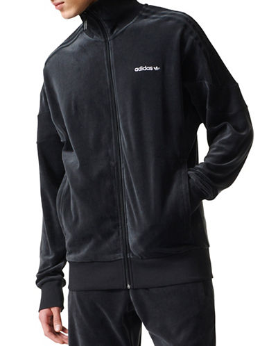 Adidas Challenger Velour Track Jacket-BLACK-Medium