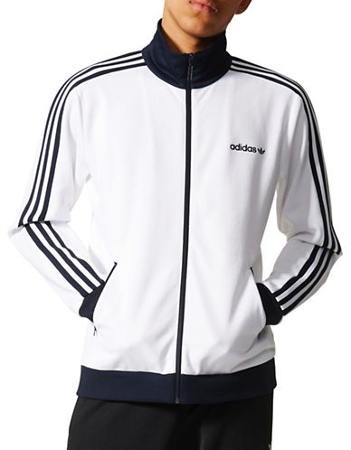 Adidas Originals Beckenbauer Track Jacket-WHITE-Large