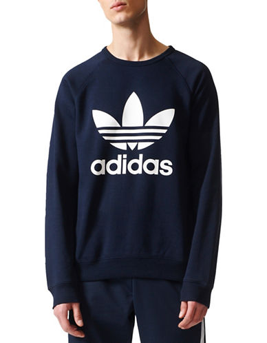Adidas Originals Trefoil Sweatshirt-BLUE-Large