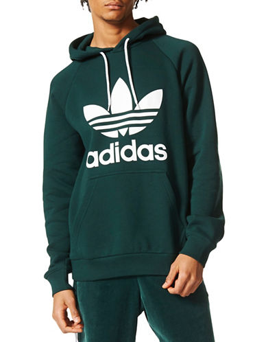 Adidas Originals Trefoil Logo Hoodie-GREEN-X-Large