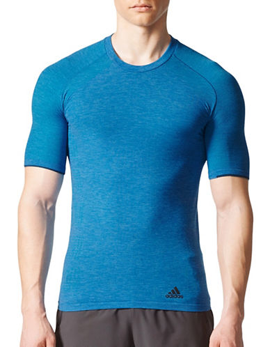 Adidas Primeknit Flat Seam Tee-BLUE-Medium