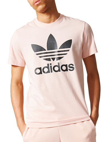 Adidas Originals Trefoil Cotton Tee-PINK-Small 89378578_PINK_Small