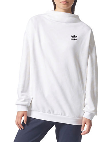 Adidas AOP Logo Sweatshirt-WHITE CREAM-X-Large