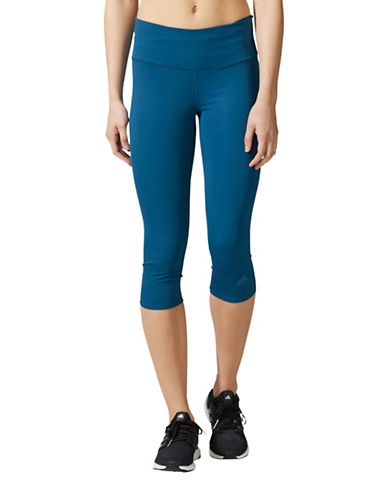 Adidas Supernova Three-Quarter Tights-BLUE-Small