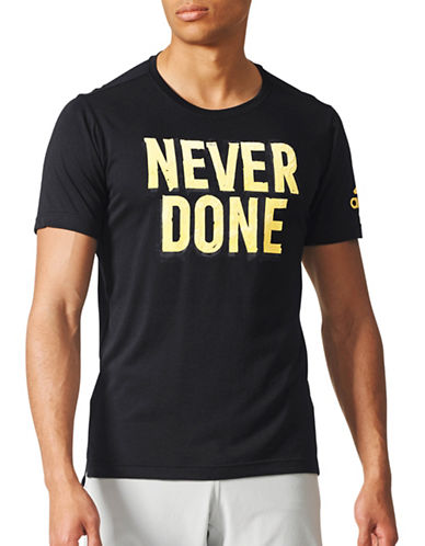 Adidas Never Done Climalite T-Shirt-BLACK-Large