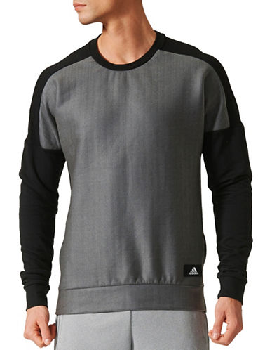 Adidas ID Crew Neck Sweatshirt-BLACK-XX-Large