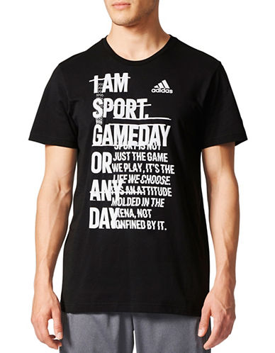 Adidas ID Athletics Mantra Cotton Tee-BLACK-Medium