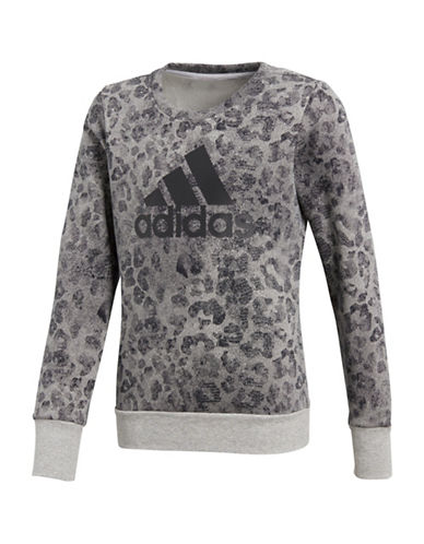 Adidas Crew Neck Printed Sweater-ASSORTED-7-8