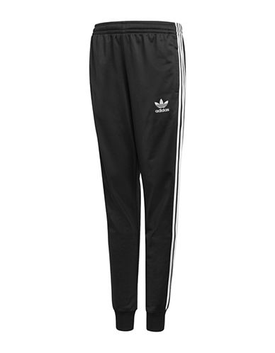 Adidas Classic Stripe Track Pants-BLACK-13-14