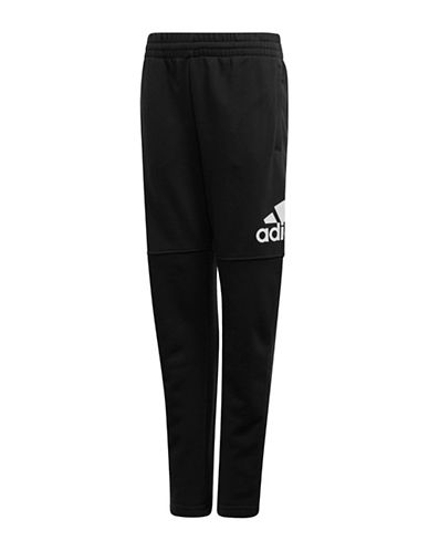 Adidas Logo Stretch Pants-BLACK-16