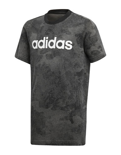 Adidas Short-Sleeve Cotton Tee-GREY-13-14
