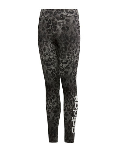 Adidas Linear Printed Tights-ASSORTED-10-12
