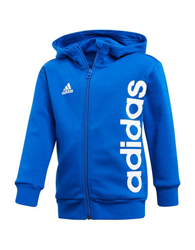 Adidas Zip-Up Active Hoodie-ROYAL-4T