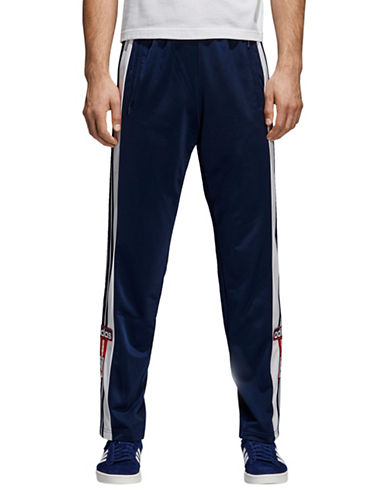 Adidas Originals Contrast Striped Track Pants-NAVY-Small