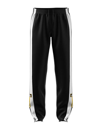 Adidas Originals Logo Stripe-Down Track Pants-BLACK-X-Small