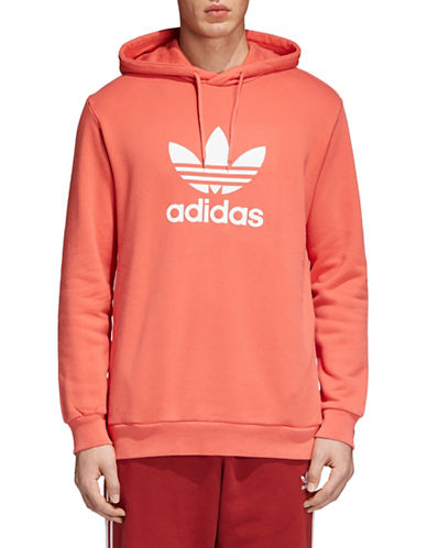Adidas Originals Trefoil Cotton Hoodie-ORANGE-X-Small