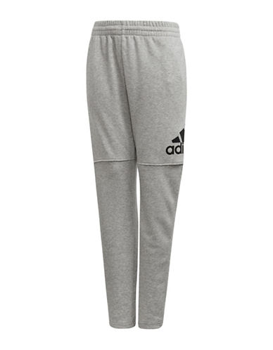 Adidas Heathered Stretch Pants-GREY-16