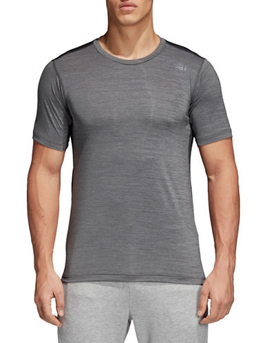 Adidas FreeLift Fitted Elite T-Shirt-GREY-Large