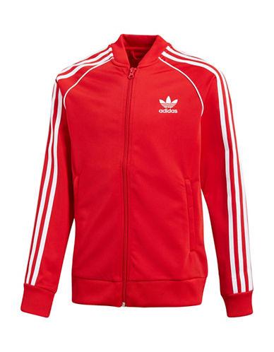 Adidas Classic Logo Jacket-RED-9-10