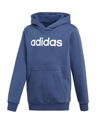 Adidas Long Sleeve Logo Hoodie-BLUE-9-10