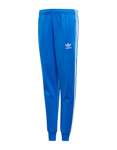 Adidas Classic Stripe Track Pants-BLUE-9-10