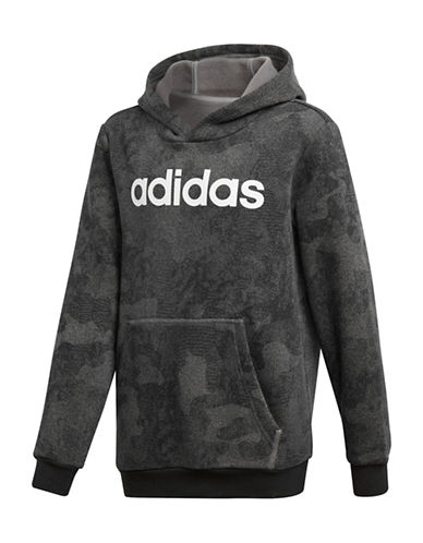 Adidas Camouflage Logo Hoodie-GREY-9-10