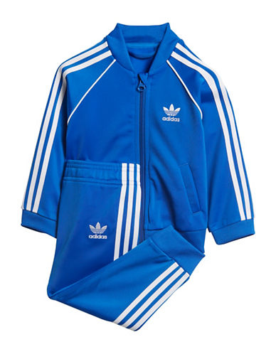 Adidas Logo Sweater and Pants Set-BLUE-12 Months