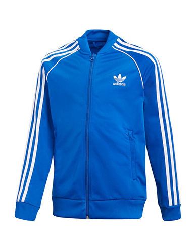 Adidas Classic Logo Jacket-BLUE-9-10