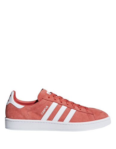 Adidas Womens Campus Leather Lace-Up Sneakers-SCARLETT-6