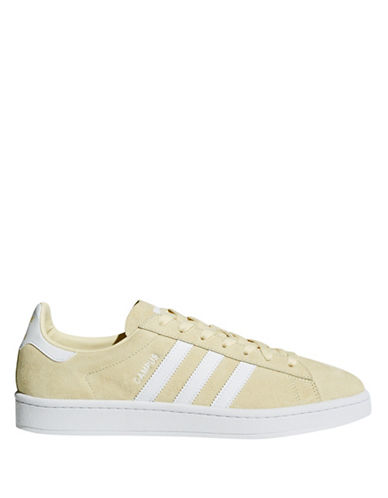 Adidas Womens Campus Leather Lace-Up Sneakers-LINEN-8.5