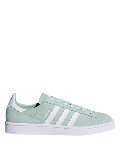 Adidas Womens Campus Leather Lace-Up Sneakers-GREEN-11