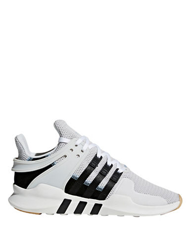 Adidas Womens EQT Support ADV Sneakers-WHITE/BLACK-6.5