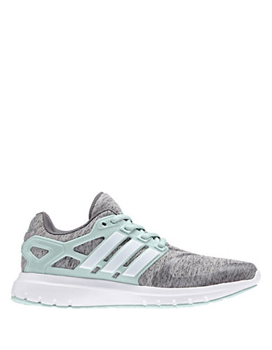 Adidas Womens Energy Cloud V Running Sneakers-GREY/GREEN-6.5