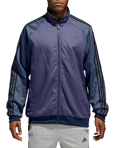 Adidas Woven Stripe-Down Jacket-NAVY-Large 90058116_NAVY_Large
