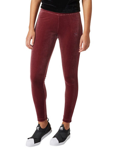 Adidas Velvet Leggings-RED-Medium 89597172_RED_Medium