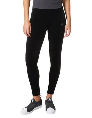 Adidas Velvet Leggings-BLACK-Small 89597176_BLACK_Small