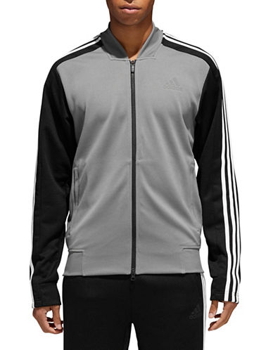Adidas ID Bomber Track Jacket-GREY-Large