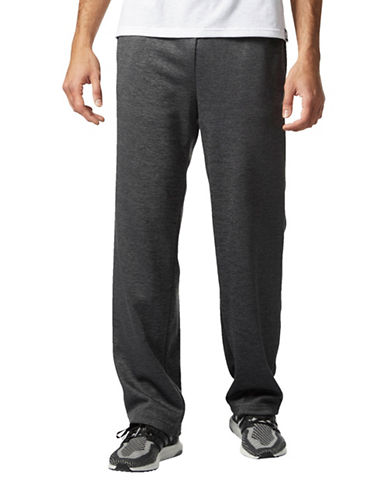 Adidas Fleece Pants-GREY-Medium