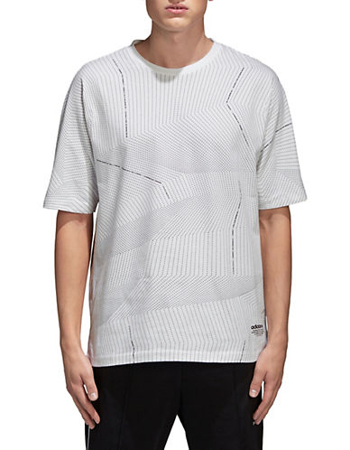 Adidas Originals Printed Cotton T-Shirt-WHITE-Medium 90064040_WHITE_Medium