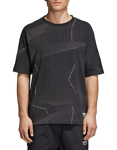 Adidas Originals NMD All-Over Print Tee-BLACK-Large