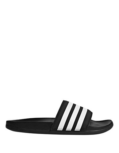 Adidas Adilette Cloudfoam Plus Stripes Slides-BLACK-6