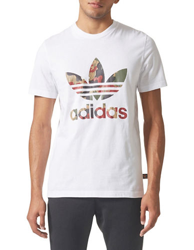 Adidas Originals Camo Trefoil Cotton T-Shirt-WHITE-Small 89699059_WHITE_Small
