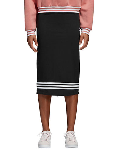 Adidas Originals French Terry Midi Skirt-BLACK-X-Small 90053384_BLACK_X-Small