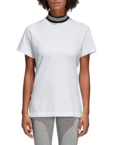 Adidas Originals Short-Sleeve Performance Tee-WHITE-Medium 90053381_WHITE_Medium