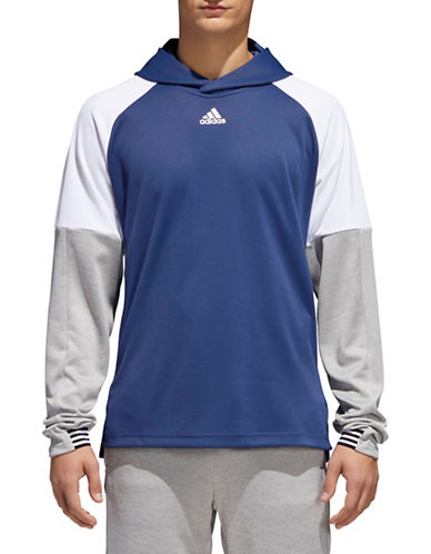 Adidas Team Issue Lite Hoodie-BLUE-Large