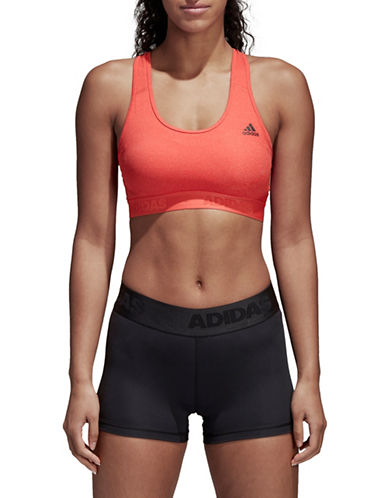 Adidas Alphaskin Heathered Padded Sports Bra-SCARLETT-X-Large 89798870_SCARLETT_X-Large